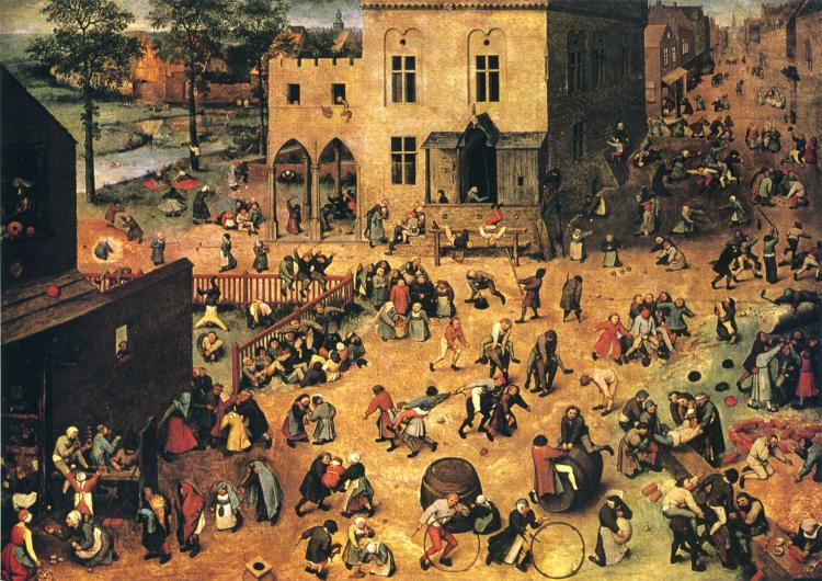 Питер Старший Брейгель - Детские игры (1560)