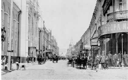 Вид Никольского и Богоявленского переулка к Владимирским воротам