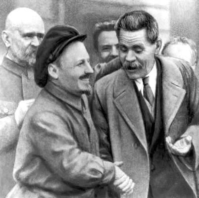 Николай Иванович Бухарин и Максим Горький