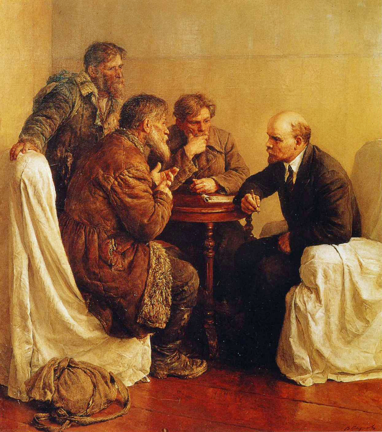 Vladimir Serov - Peasant Petitioners Visiting Lenin