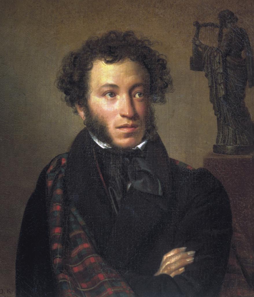 Портрет А. С. Пушкина Орест Кипренский 1827 год