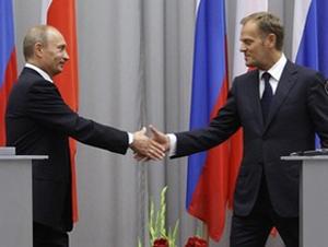 3 февраля 2010 г.  Путин предложил польскому премьеру посетить мемориальные мероприятия в Катыни