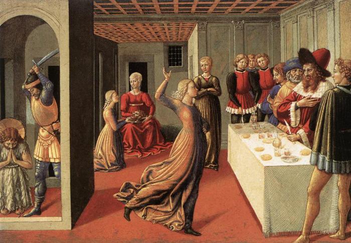 Беноццо Гоццоли Танец Саломеи на пиру у царя Ирода и обезглавливание Св. Иоанна Крестителя 1461-1462 г.г.