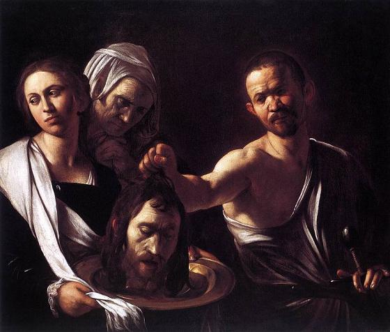 """Караваджо """"Саломея с головой Крестителя"""" 1607 г."""