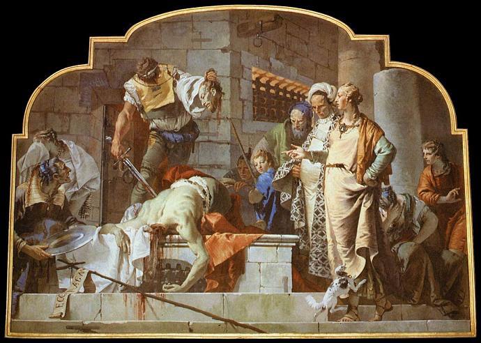 Джованни Баттиста Тьеполо Обезглавливание Святого Иоанна Крестителя 1732 г