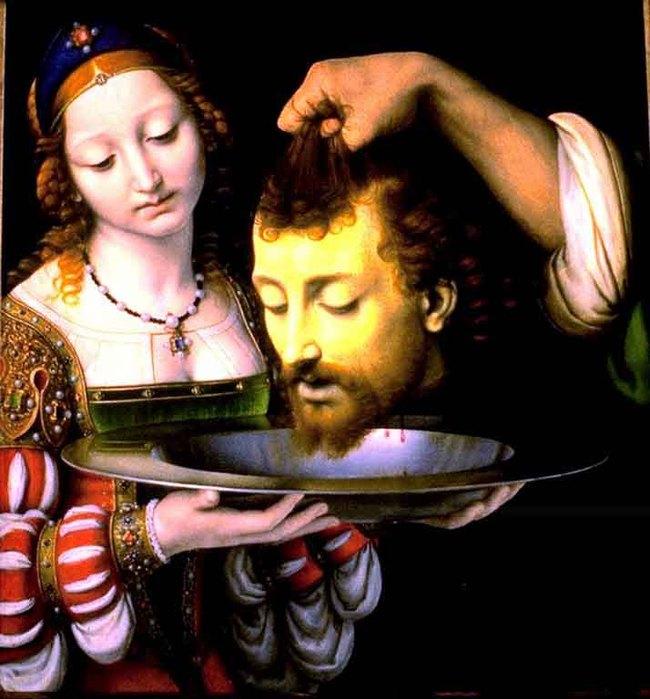 Саломия с головой Иоанна Крестителя. Андреа Соларио, 1506