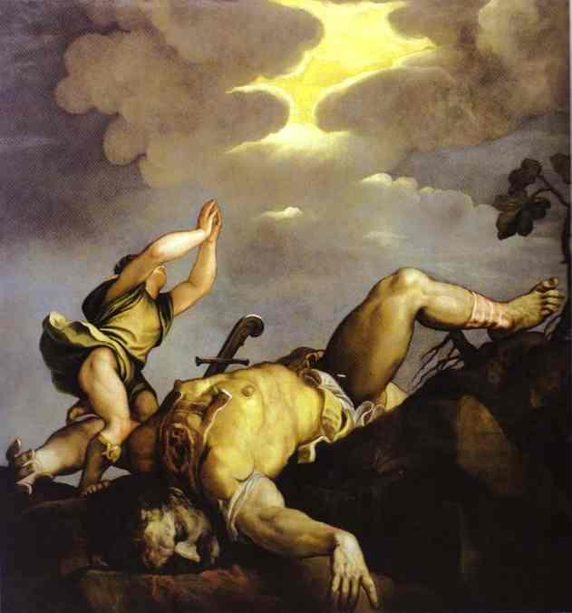 """Тициан """"Давид и Голиаф"""""""