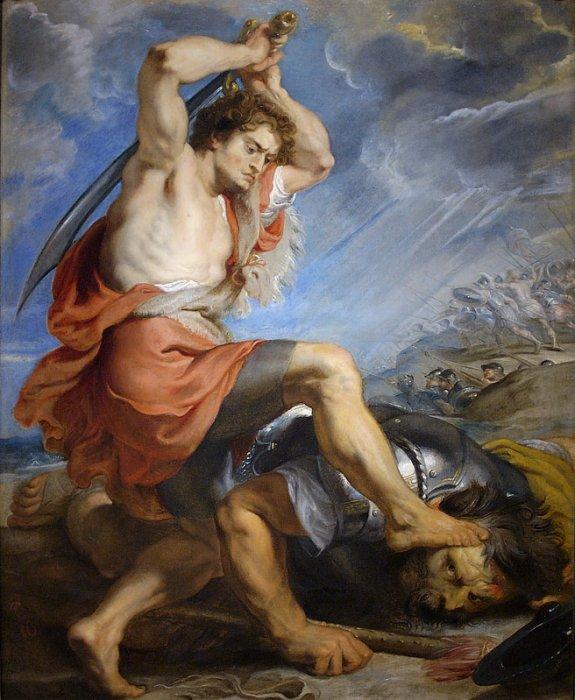 Peter Paul Rubens, David Slays Goliath