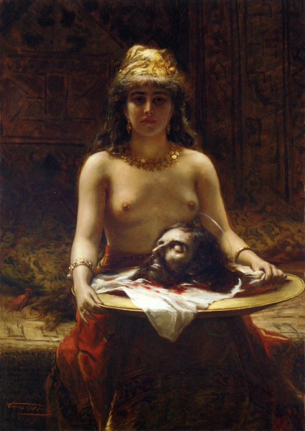 Salome (1889) Oil on Canvas by Leon Herbo