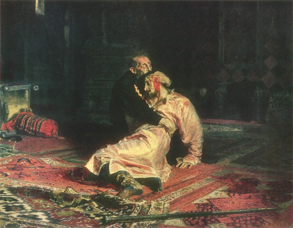 """И.Е. Репин """"Иван Грозный и сын его Иван 16 ноября 1581 года"""""""