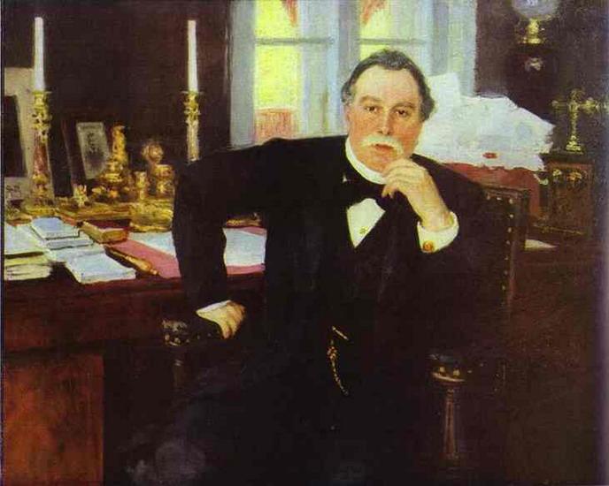 """Илья Репин """"Портрет В.К. Плеве"""", 1894 г."""
