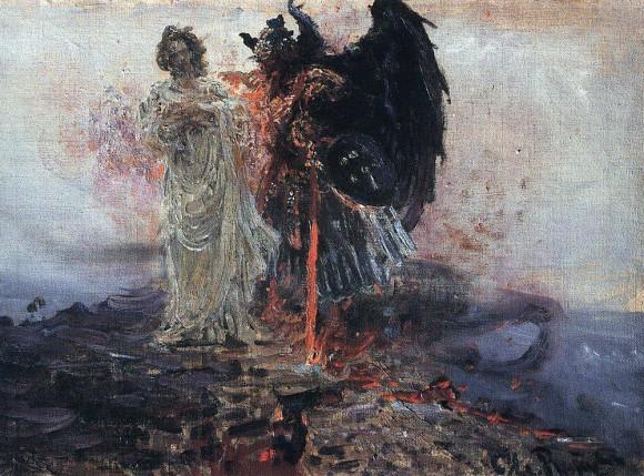 """Илья Репин """"Иди за мною, Cатано!"""" 1895"""