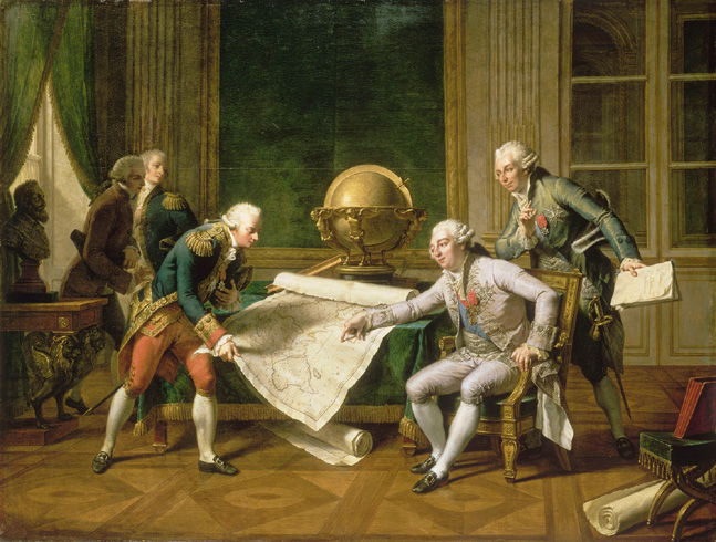Nicolas Andre (1754-1837) / Louis XVI (1754-93) Giving Instructions to La Perouse, 29th June 1785