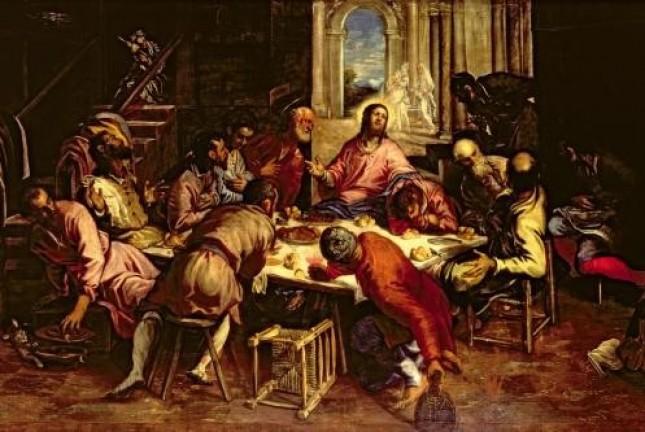 """Якопо Тинторетто """"Тайная вечеря"""", Ок. 1563–1564 гг."""