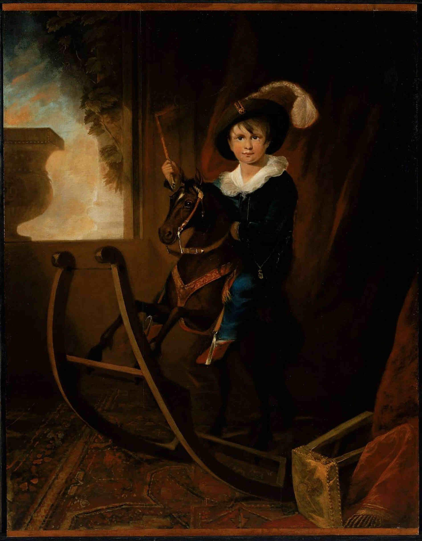 "Henry Sargent Boston (1815) ""Лошадка-качалка"""