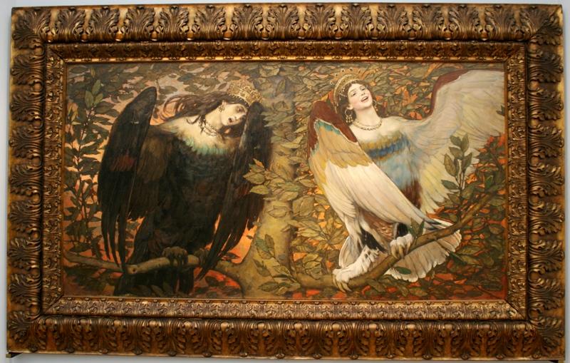 """""""Сирин и Алконост"""", Васнецов, 1896"""