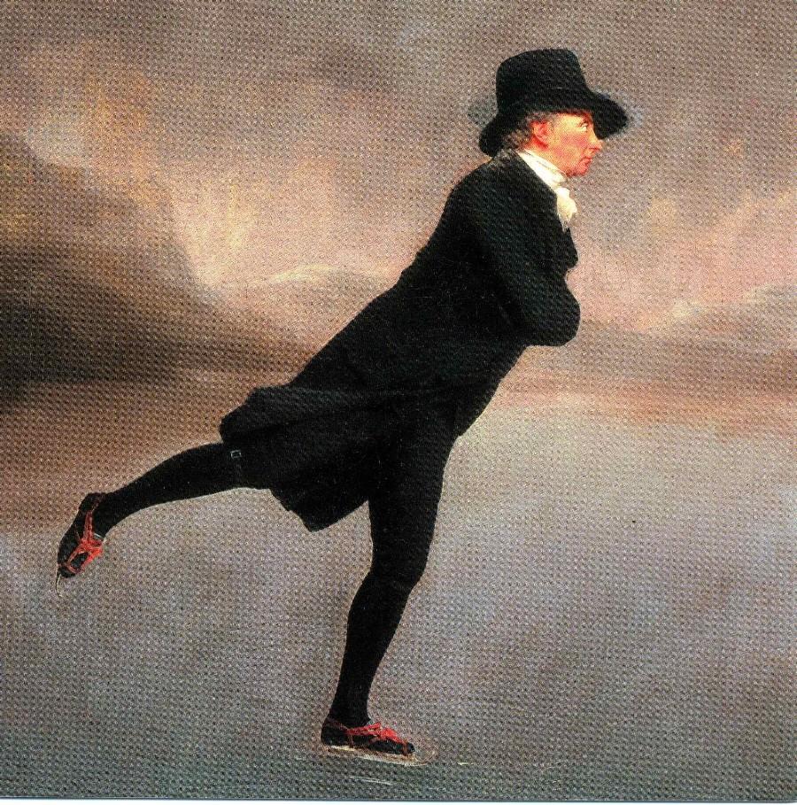 """Сэр Генри Рейберн """"Священник Роберт Уолкер, катающийся на коньках на озере"""""""