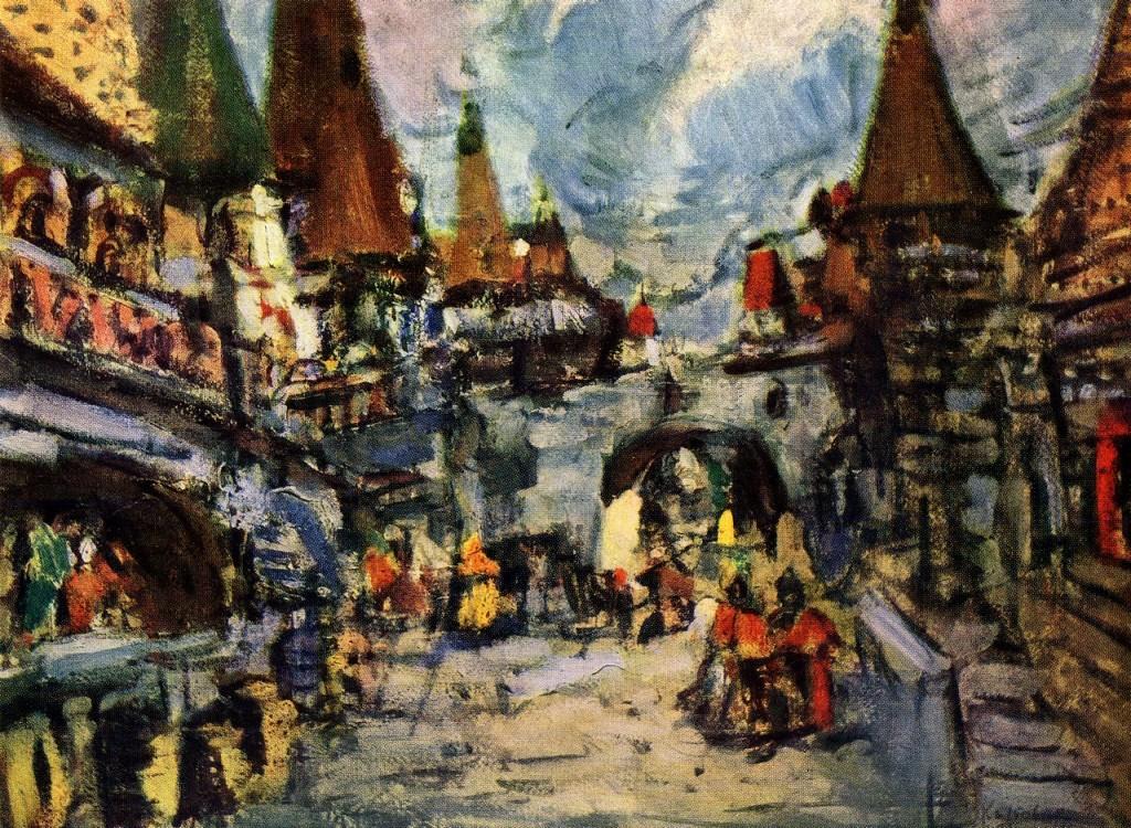 """Константин Коровин """"Малый Китеж"""", эскиз декорации, 1907 г."""