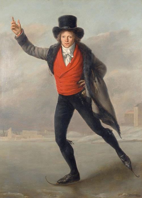 """Пьер Максимилиан Делафонтен """"Конькобежец"""" (1798)"""