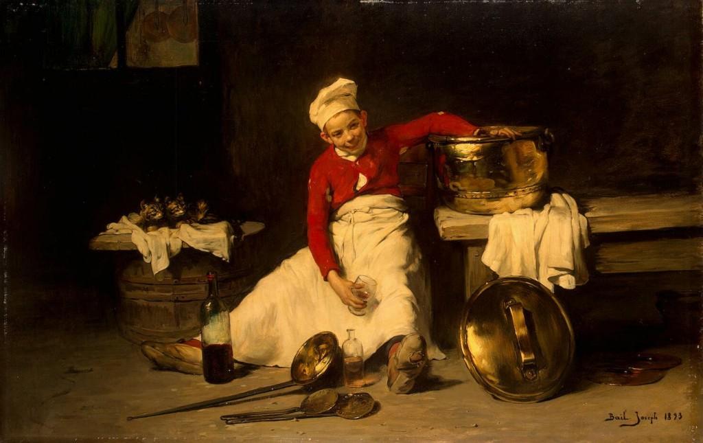 Байль, Жозеф - Поваренок на кухне
