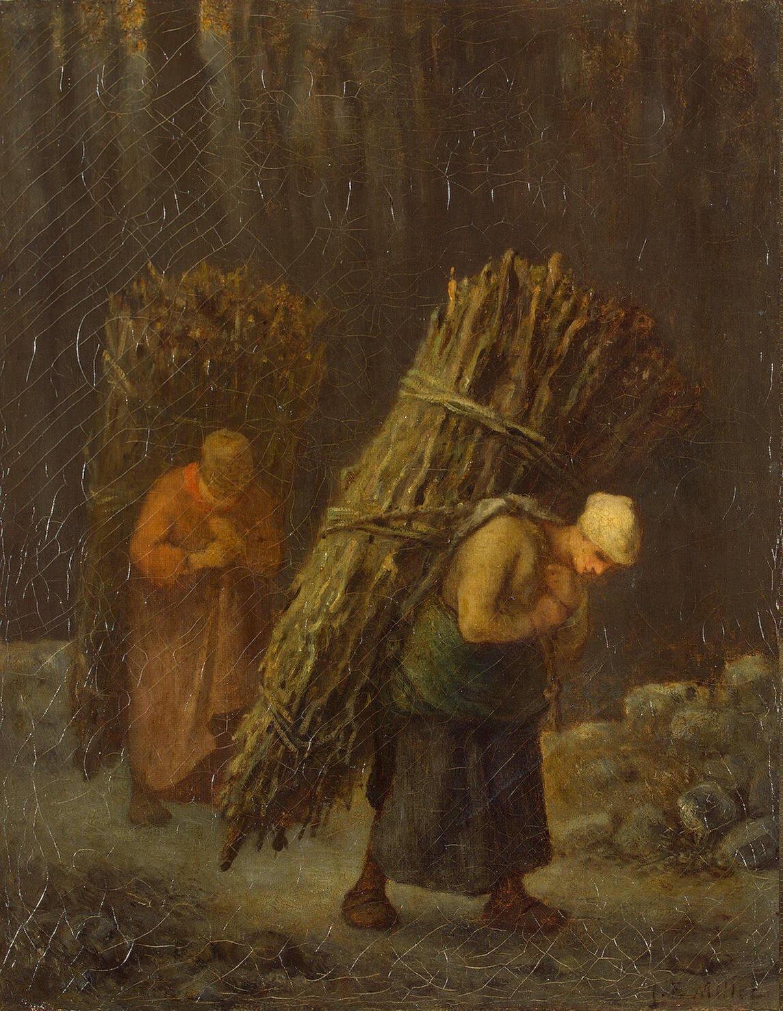 """Жан-Франсуа Милле """"Крестьянки с дровами"""""""