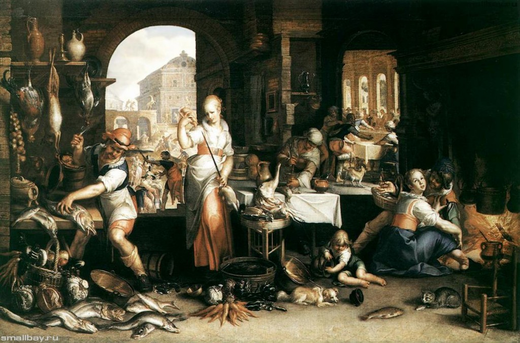 "Иоахим Эйтевал (Wtewael Joachim) ""Сцена на кухне"", 1605 г."