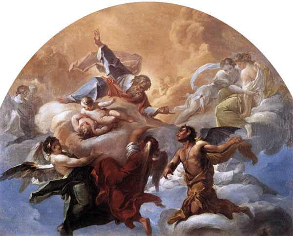Коррадо Джакинто (Corrado Giaquinto, 1703-1766) - Падший ангел за воротами рая