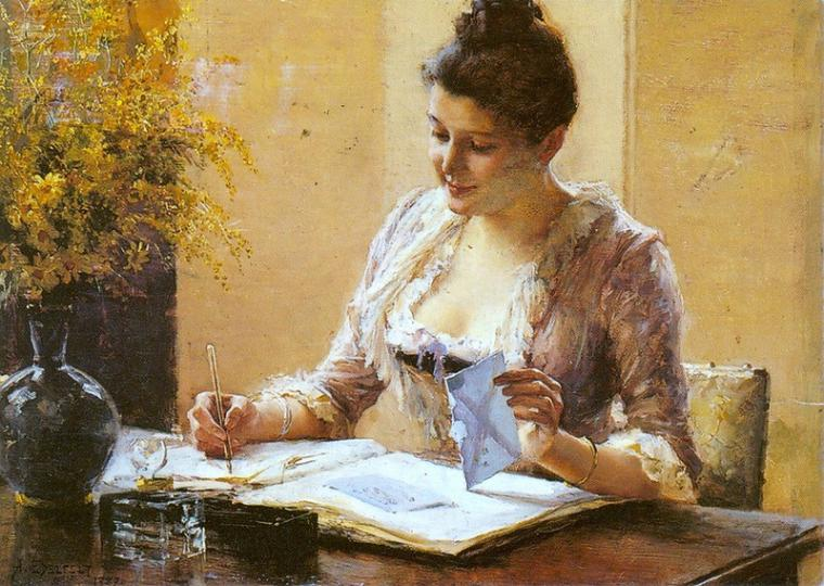 Albert Edelfelt, Lady Writing a Letter