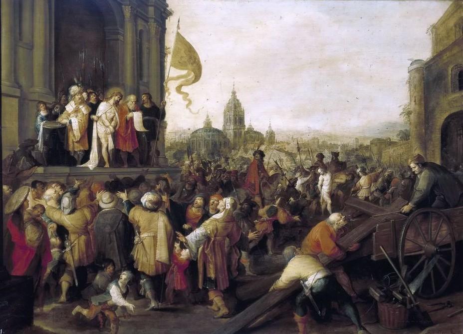 """Массейс, Квентин (1465/1466 - 1530) """"Суд над Христом"""""""