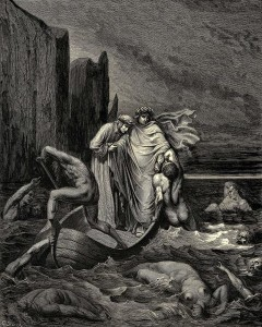 Харон, иллюстрация Гюстава Доре к «Божественной комедии» Данте