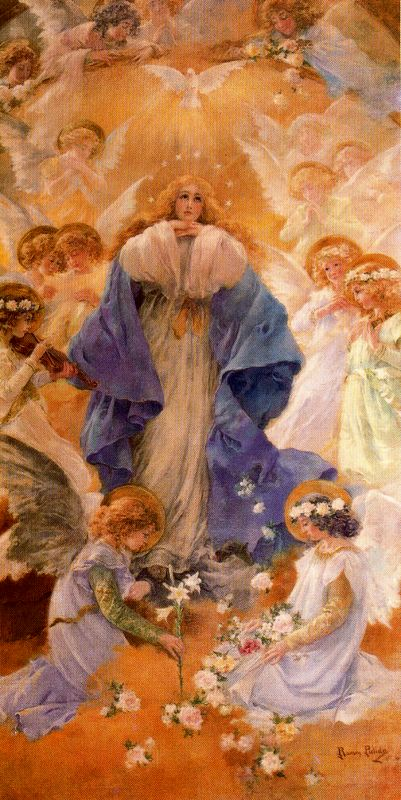 Baldomero Saenz. Непорочное зачатие Девы Марии, 1906