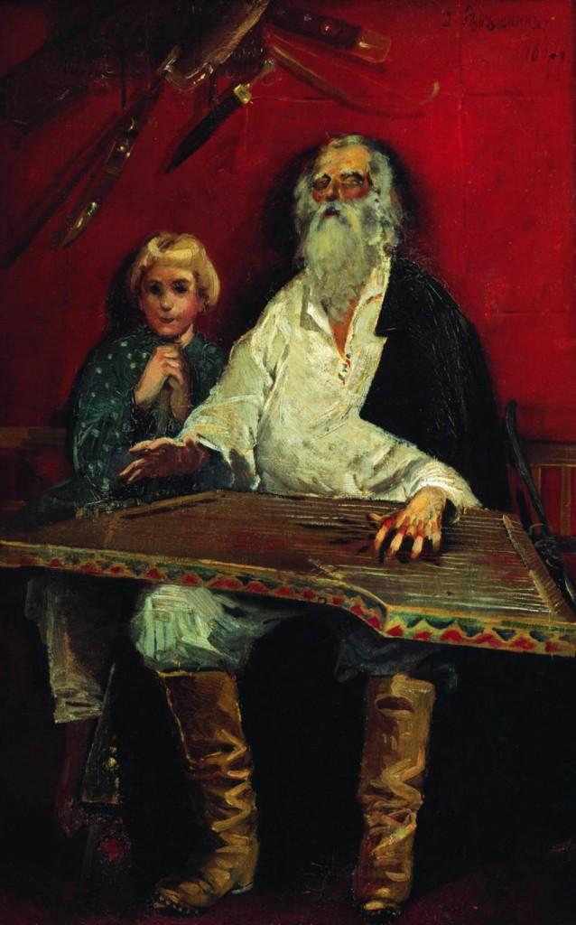 "Рябушкин Андрей Петрович (1861-1904) ""Гусляр, поющий старинку"", 1887 г."