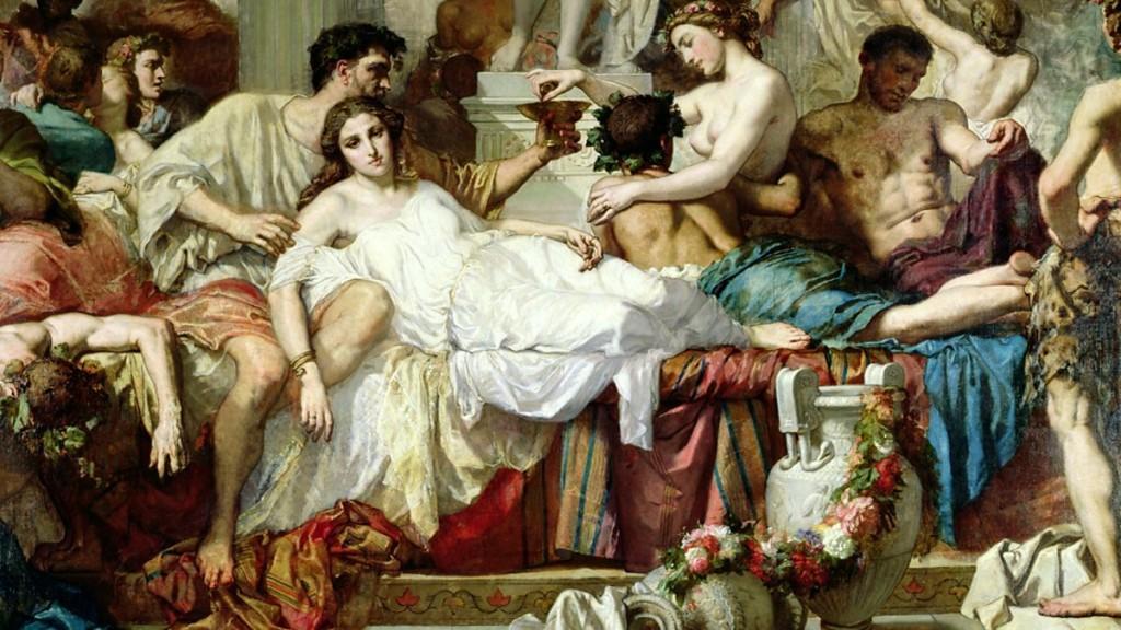 "Тома Кутюр ""Римляне времен упадка"", 1847 г."
