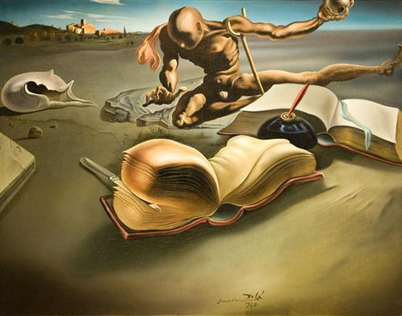 """Salvador Dali  """"Книга трансформирует себя в книгу (Book Tranforming Itself Into a Book)"""""""