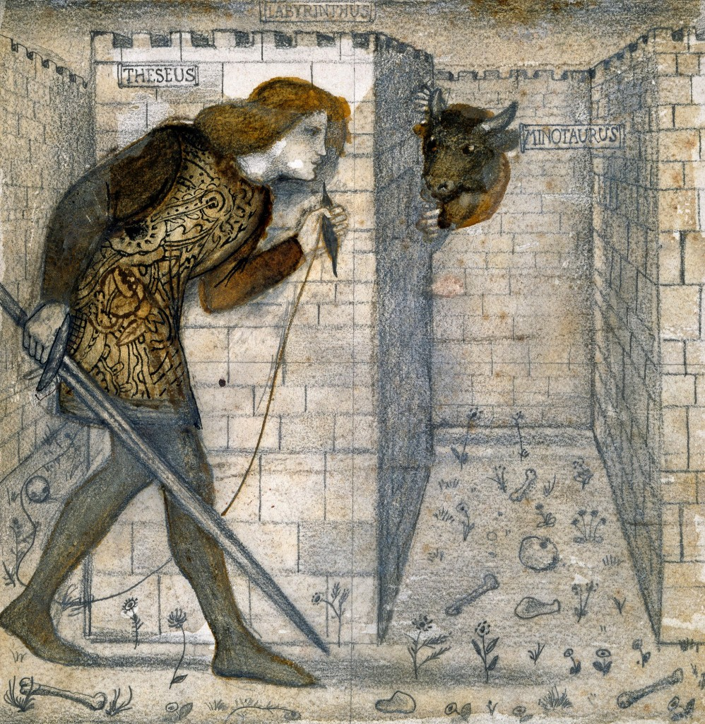 "Эдвард Бёрн-Джонс, ""Tile Design - Theseus and the Minotaur """