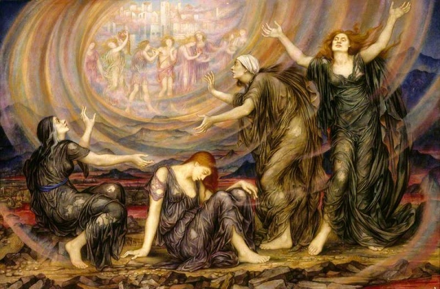 "Evelyn De Morgan (1855-1919) ""Чистилище"""