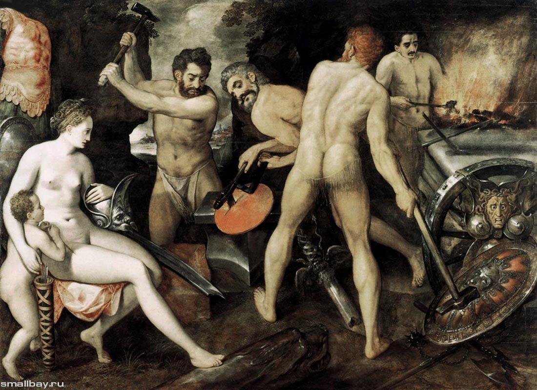 """Флорис Франс """"Венера в кузнице Вулкана"""", 1564 Картинная галерея, Берлин"""
