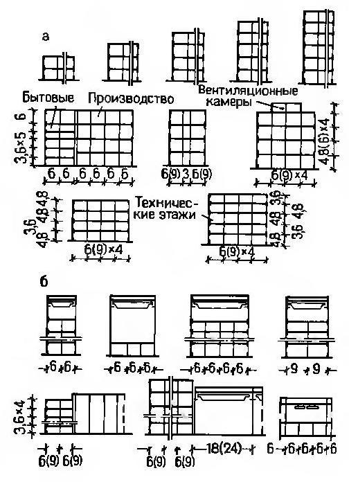 Схемы объемно-планировочных